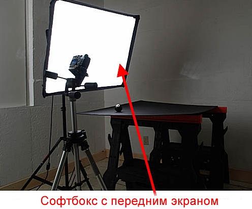 Софтбокс с передним экраном